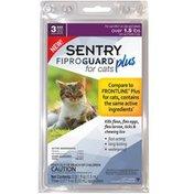 Sentry Pro Fiproguard Plus For Cats Kills Fleas, Flea Eggs, Flea Larvea, Ticks & Chewing Lice