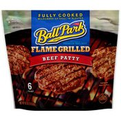 Ball Park Fully-Cooked Flame Grilled Original Beef Patties, Frozen