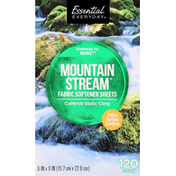 Essential Everyday Fabric Softener Sheets, Mountain Stream