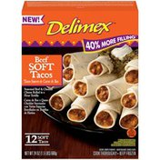 Delimex Beef Soft Tacos