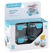 GoodCook Food Storage, Mini Snap, 4 Pack