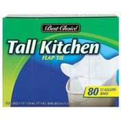 Best Choice Tall Flap Tie  Kitchen Bags