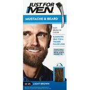 Just For Men Easy Brush-In Color, Mustache & Beard, Light Brown M-25