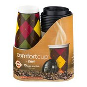 Chinet Comfortcup Insulated Cups and Lids - 10 CT