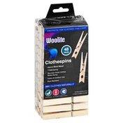 Woolite Clothespins, Natural Birch Wood, 48 Pack