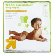 Up&Up Baby Wipes, Fresh Cucumbers, 3 Packs