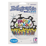"Betallic 18"" Holographic Balloon Happy Birthday"