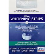 Equate Whitening Wraps, Ultra