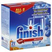 Finish Automatic Dishwasher Detergent, Gelpacs, Orange
