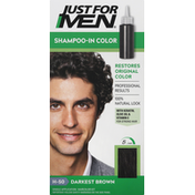 Just For Men Shampoo-In Color, Darkest Brown H-50