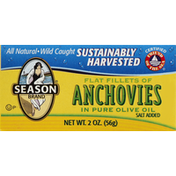 Season Flat Fillets of Anchovies In Pure Olive Oil
