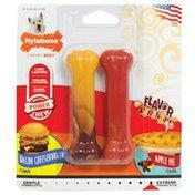 Nylabone Flavor Frenzy Small Bacon Cheeseburger & Apple Pie Dog Chew Toys