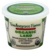 Tendergrass Farms Lard, Organic, Tub