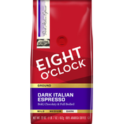 Eight O'Clock Coffee Coffee, Ground, Dark Roast, Dark Italian Espresso