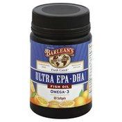 Barlean's Fish Oil, Ultra EPA DHA, Softgels, Orange Flavor
