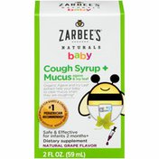 Zarbee's Naturals Baby Cough Syrup + Mucus, Natural Grape