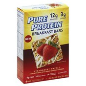 Pure Protein Breakfast Bars, Strawberry Waffle
