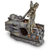 """Pet Co. 8"""" L X 4"""" W X 9"""" H Sunken Shipwreck Back Half Aquarium Ornament"""