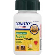 Equate Aspirin, 81 mg, Enteric Coated Tablets