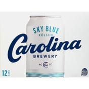 Carolina Brewery Beer, Sky Blue Kolsch, 12 Pack