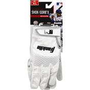 Franklin`s Teleme Batting Gloves, Shok-Sorb X, Adult, Extra Large