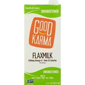 Good Karma Flaxmilk, Unsweetened, Smooth & Creamy