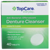 TopCare Anti-Bacterial Effervescent 3 Minute Clean Denture Cleanser Tablets