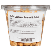 Hy-Vee Cashews, Roasted & Salted, To-Go