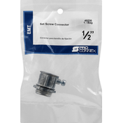 Pro Connex Set Screw Connector, EMT, 1/2 Inches