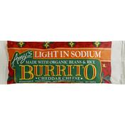 Amy's Kitchen Burrito, Light in Sodium, Cheddar Cheese