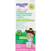 Equate Cetirizine Hydrochloride Oral Solution, Bubble Gum Flavor, Children's