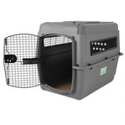 """Petmate 36"""" x 25"""" x 27"""" Large Light Gray Sky Kennel for Pets from 50 to 70 Pounds"""