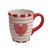 Che Conversation Hearts Striped Mug