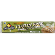 Food for Life English Muffins, Gluten Free, Multi Seed