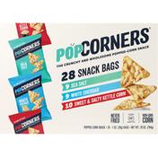 PopCorners Popped-Corn Snack, Sea Salt/White Cheddar/Sweet & Salty Kettle Corn