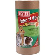 Kaytee Tube 'O Hay Plus Carrot Foraging Treat