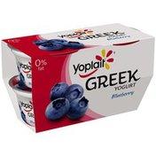Yoplait Greek Blueberry Fat Free Yogurt