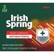 Irish Spring Bar Soap, Antibacterial, Sport Strength