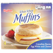 Hy-Vee Canadian Bacon, Egg White And Cheese Whole Wheat Muffins Sandwiches