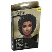 Evolve Satin Bonnet, Onyx, Black