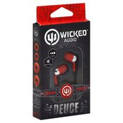 Wicked Earbuds, Deuce, Red