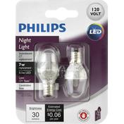 Philips Light Bulbs, LED, Night Light, 7 Watts