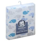 Gerber Crib Sheet, Fitted, Single Pack