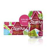 Ozarka Sparkling Water, Raspberry Lime