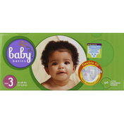 Baby Basics Diapers, Ultra Absorbent, Size 3 (16-28 lb)