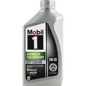 Mobil Motor Oil, 0W-30, Advanced Fuel Economy, Fully Synthetic