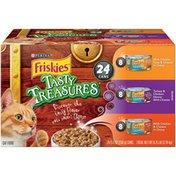 Purina Friskies Tasty Treasures Wet Cat Food Variety Pack