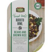 Nature's Earthly Choice Burrito Bowl, Beans and Brown Rice