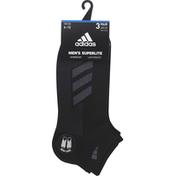 adidas Men's Superlite Stripe II Low Cut Socks 3-Pack
