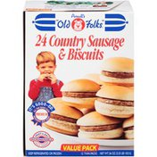 Purnell's Old Folks 12 Twin Packs Country Sausage & Biscuits